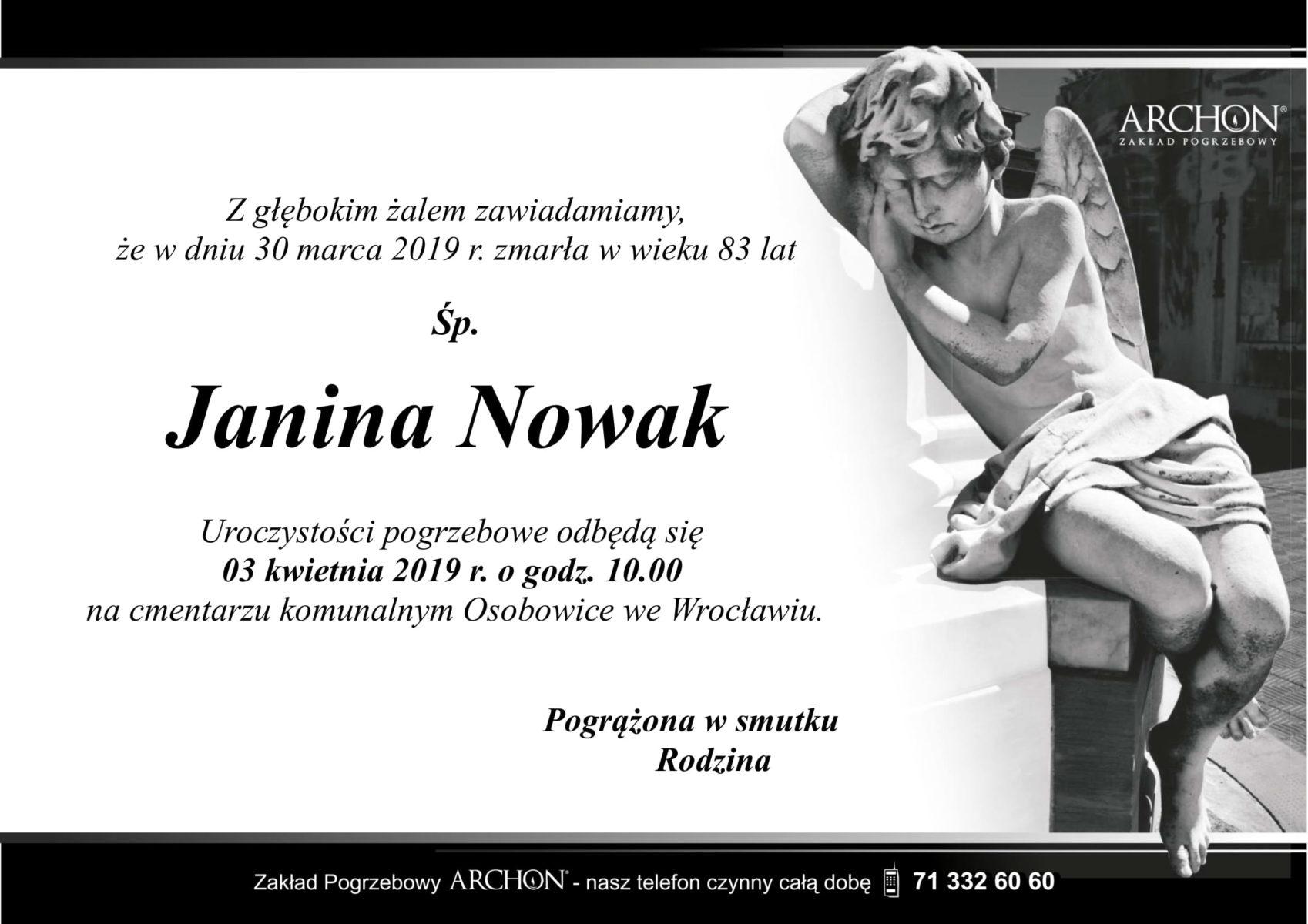 Śp. Janina Nowak-1