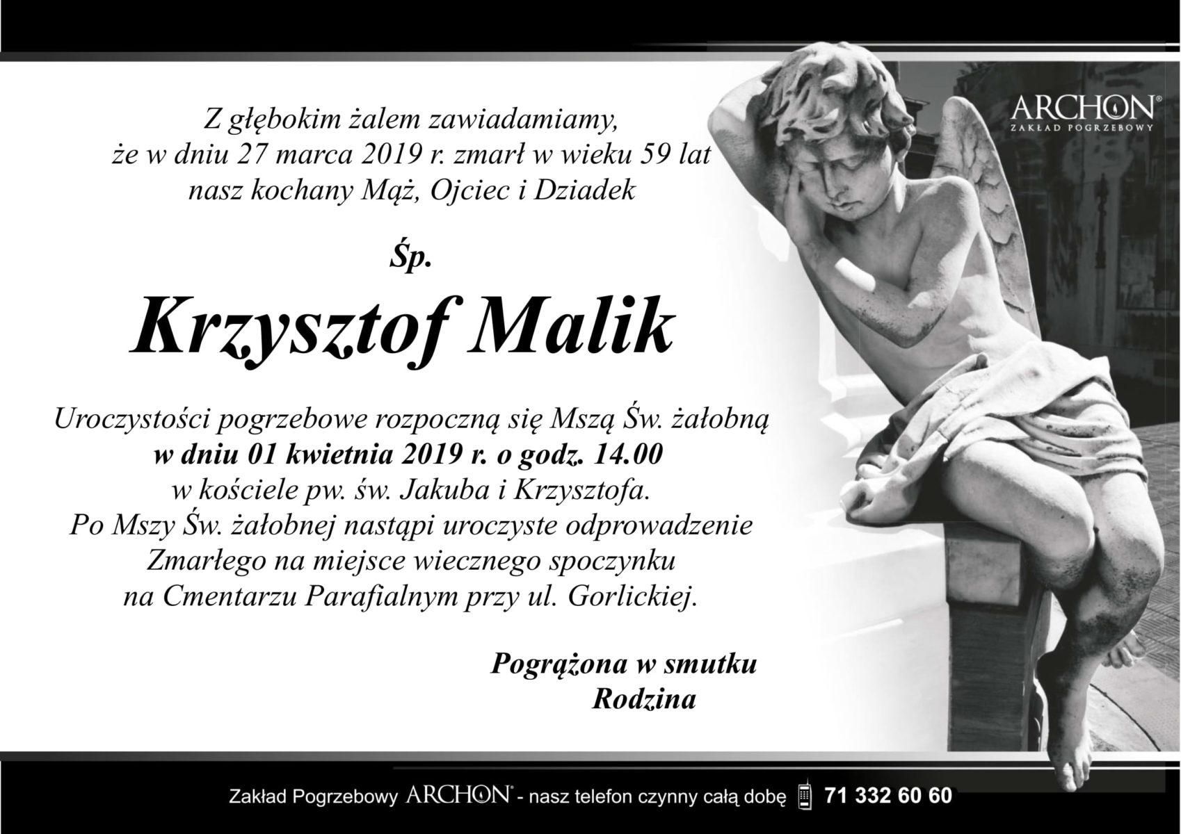 Śp. Krzysztof Malik-1