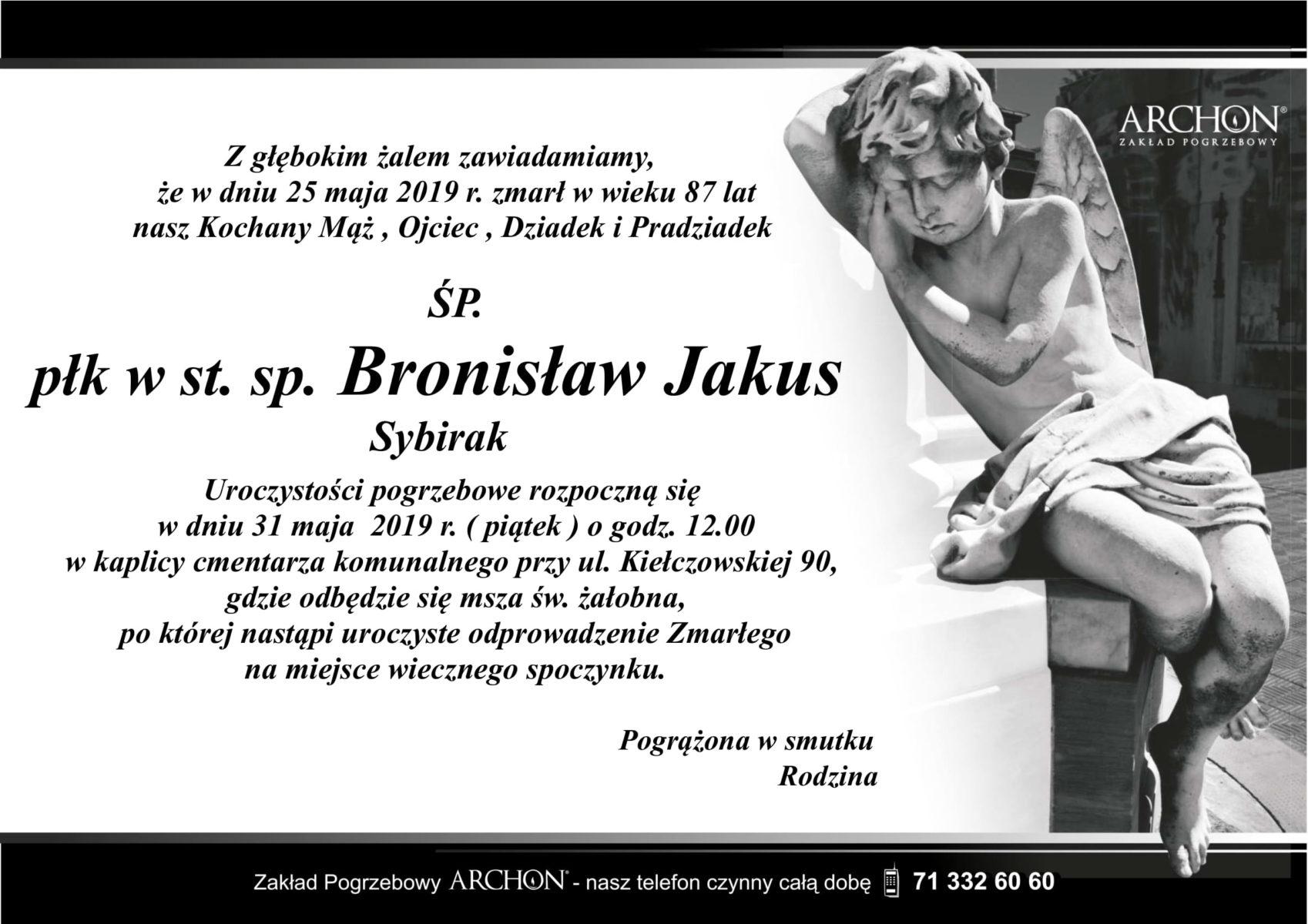 Śp. płk w st. sp. Bronisław Jakus-1