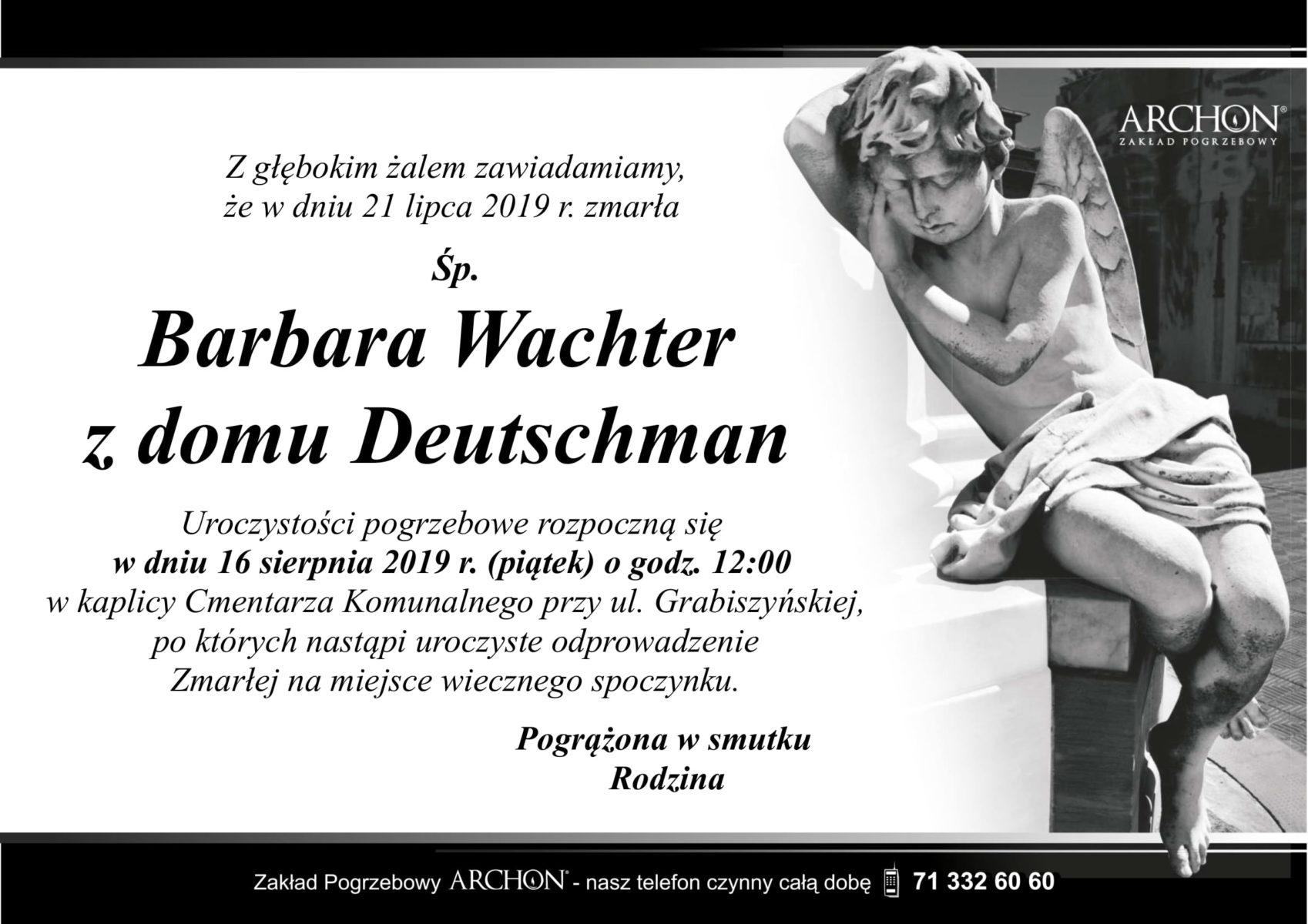 Śp. Barbara Wachter z domu Deutschman-1