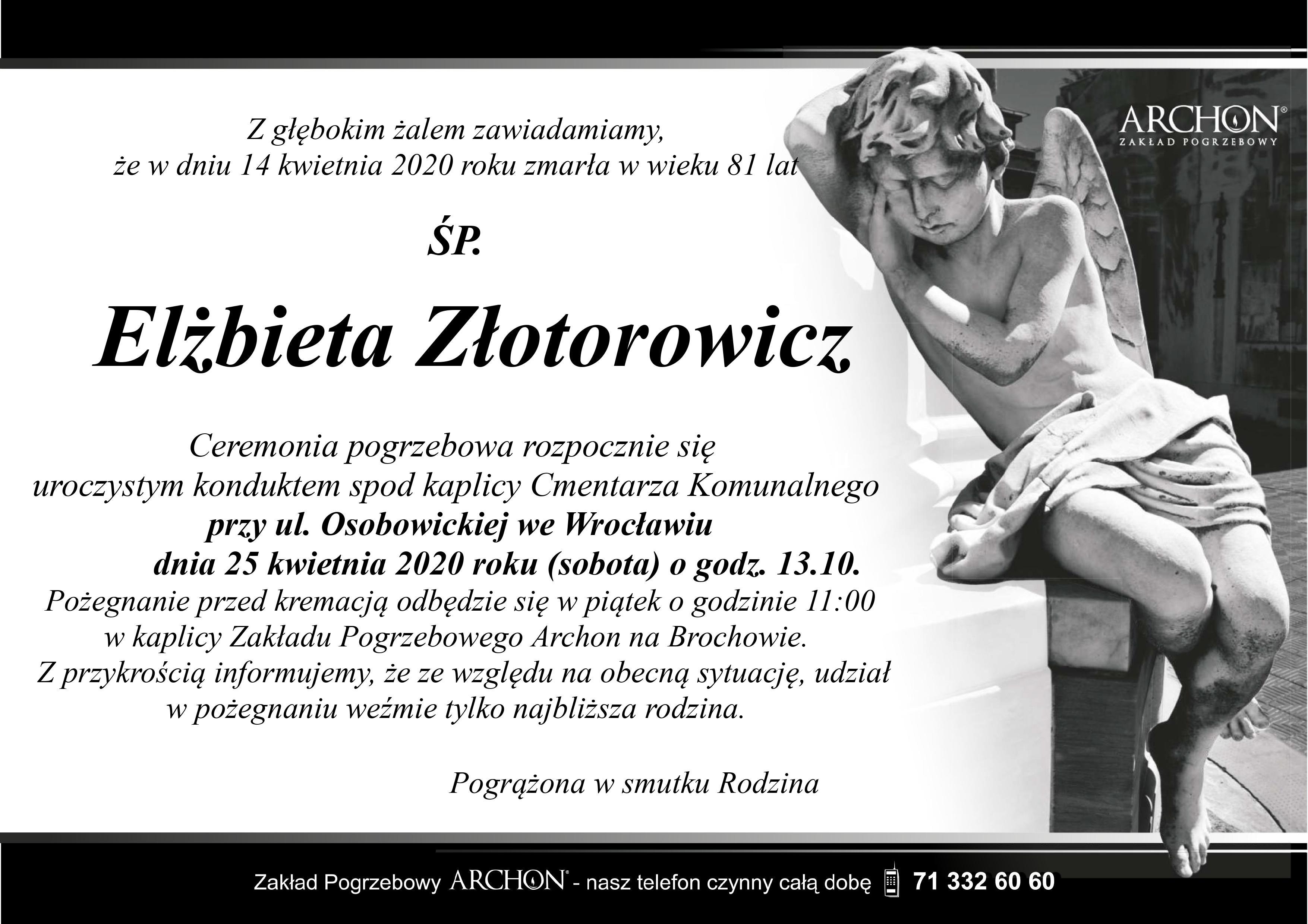 Śp. Elżbieta Złotorowicz